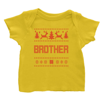 Christmas Sweater Brother Baby T-Shirt  Matching Family