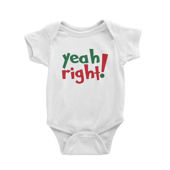 Yeah Right Romper Baby Romper Christmas Funny Twins