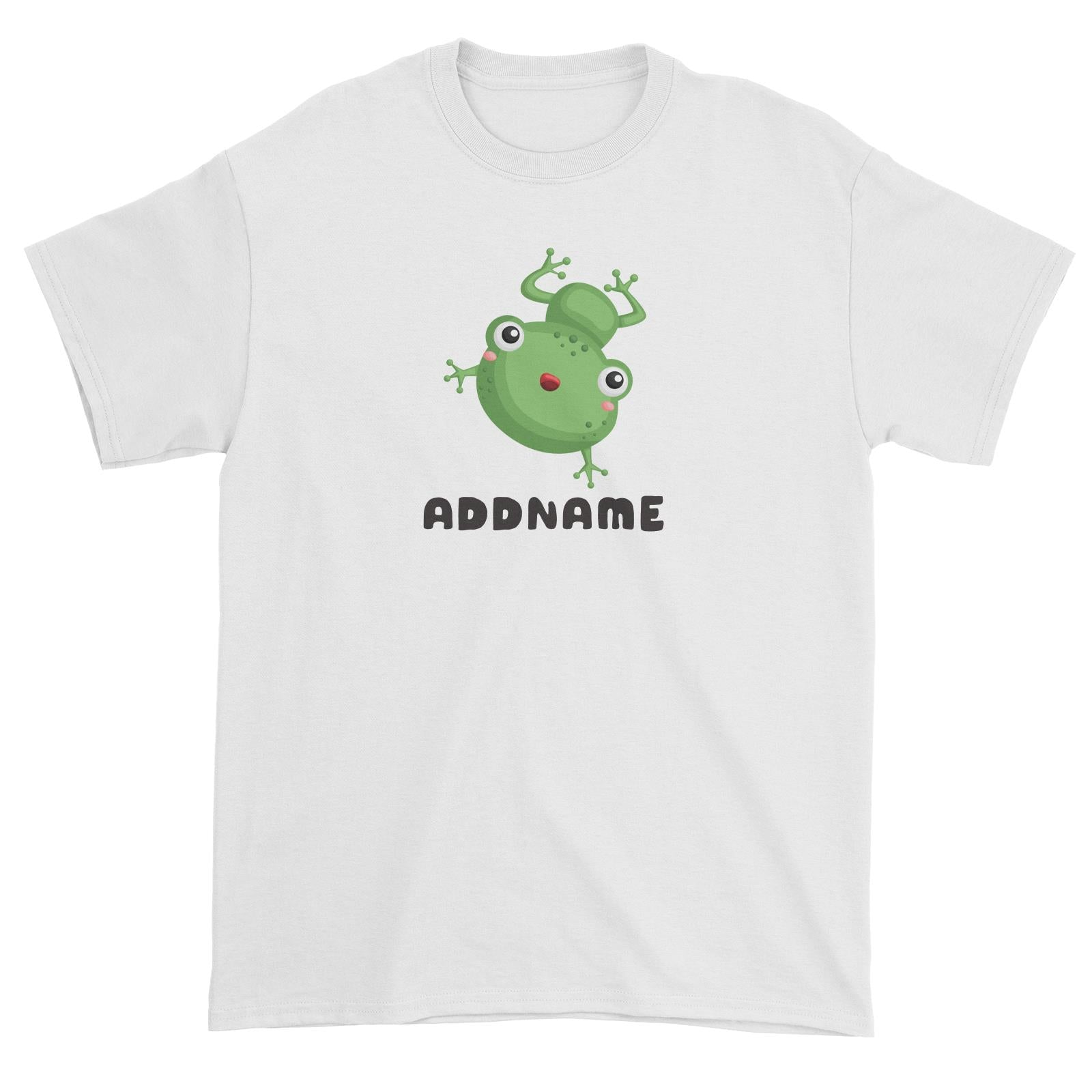 Birthday Frog Frog Happy Jumping Addname Unisex T-Shirt