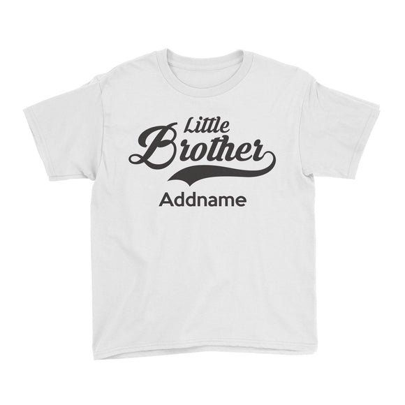 Retro Little Brother Addname Kid's T-Shirt
