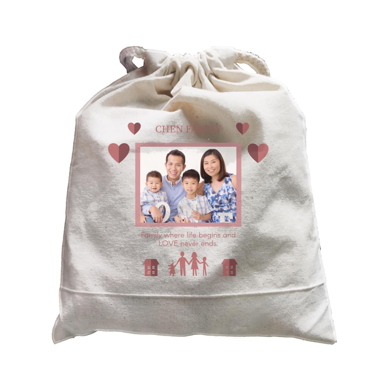 Photo Gift Series Love Frame For Family Satchel