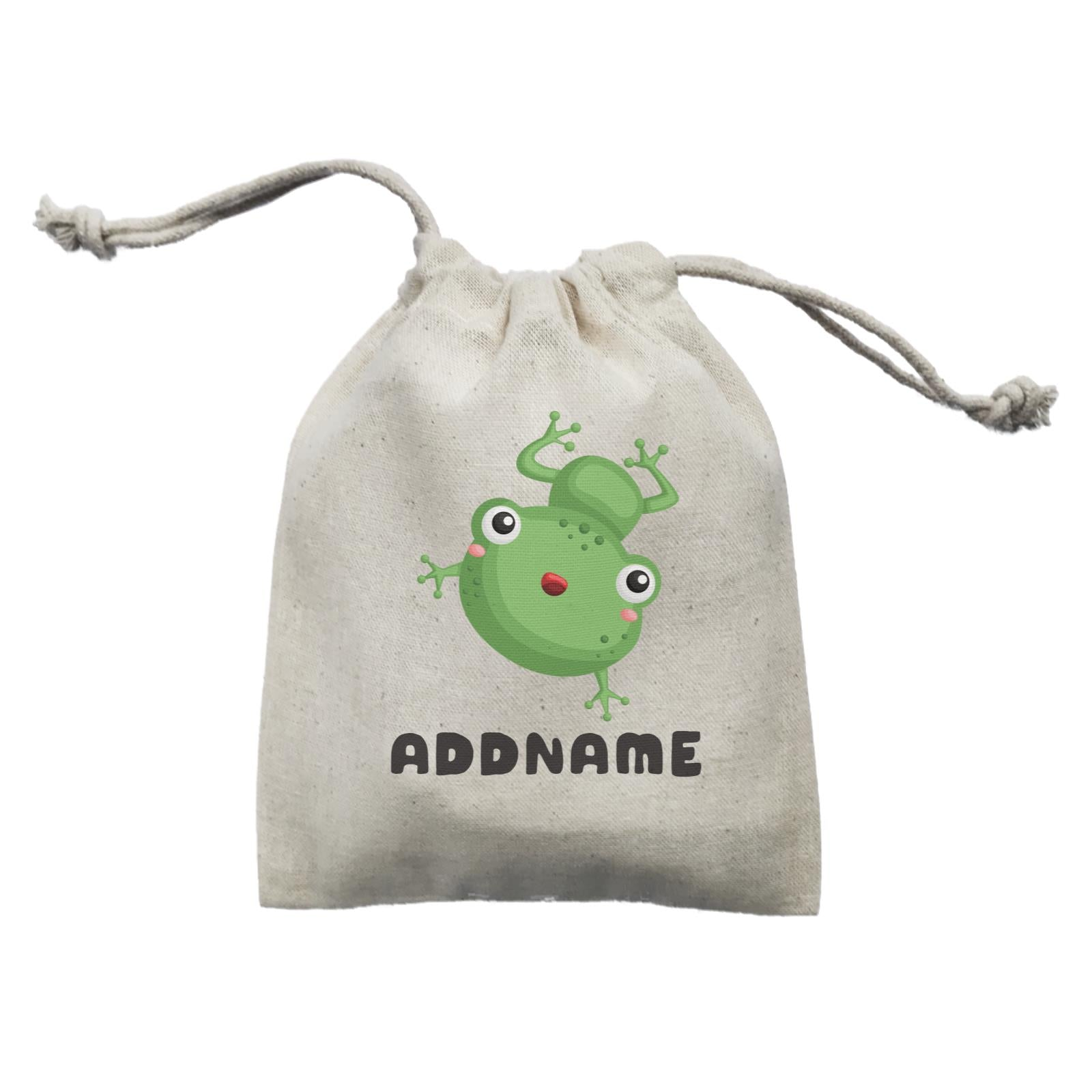 Birthday Frog Happy Frog Jumping Addname Mini Accessories Mini Pouch