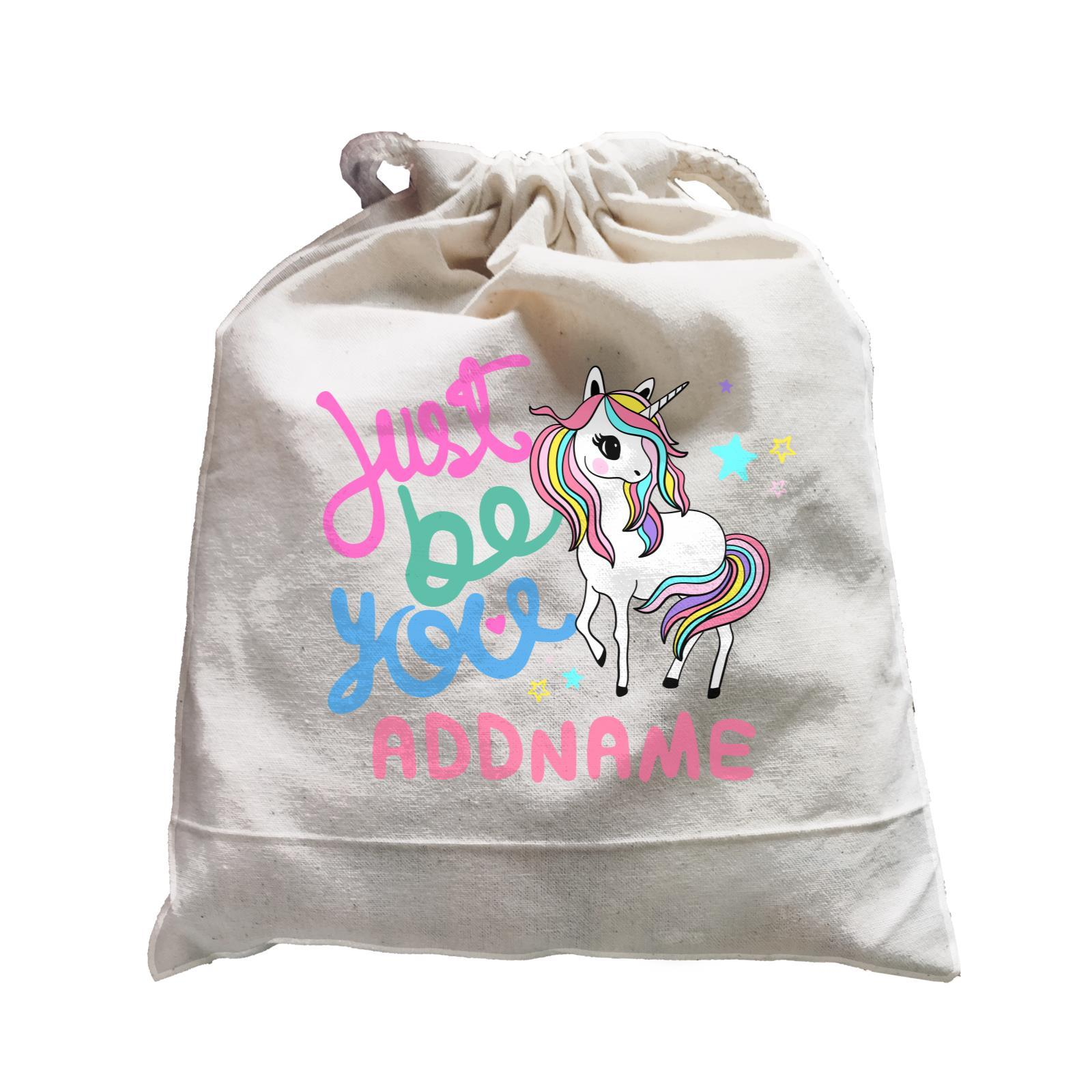 Children's Day Gift Series Just Be You Cute Unicorn Addname  Satchel