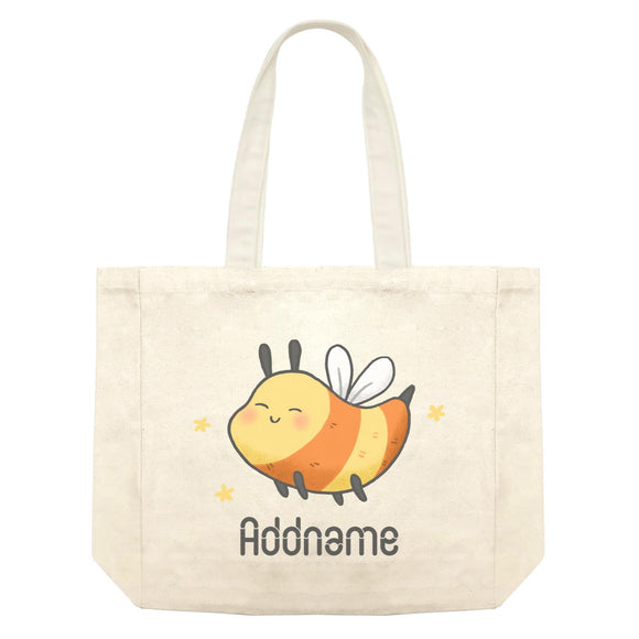 Cute Hand Drawn Style Bee Addname Shopping Bag