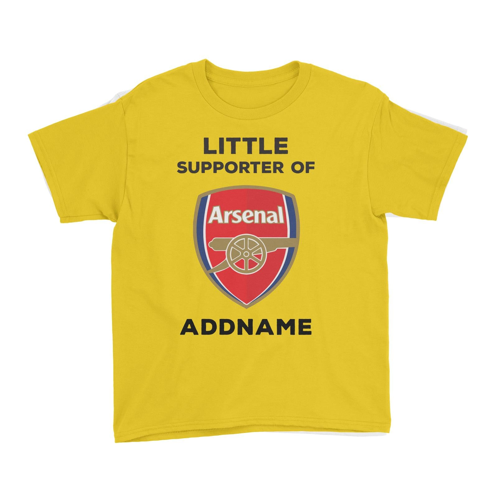 Arsenal FC Little Supporter Personalizable with Name Kid's T-Shirt