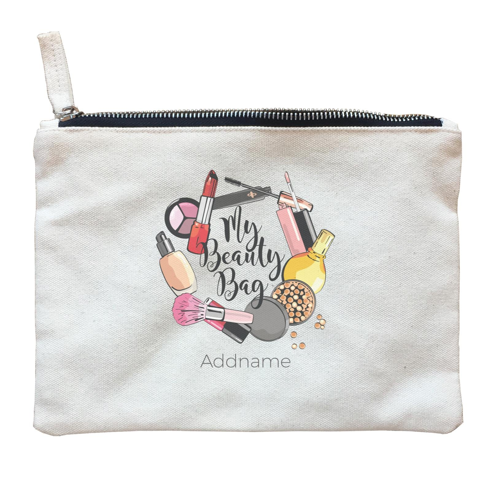 Make Up Quotes Make My Beauty Bag Addname Zipper Pouch