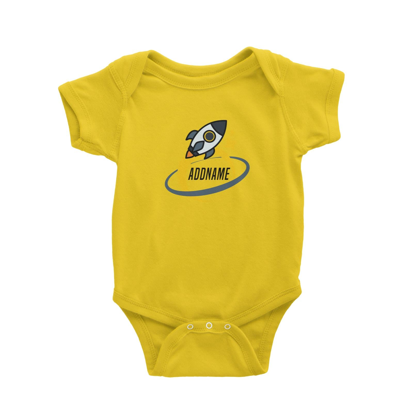 Birthday Rocket To Galaxy Moon And Star Addname Baby Romper
