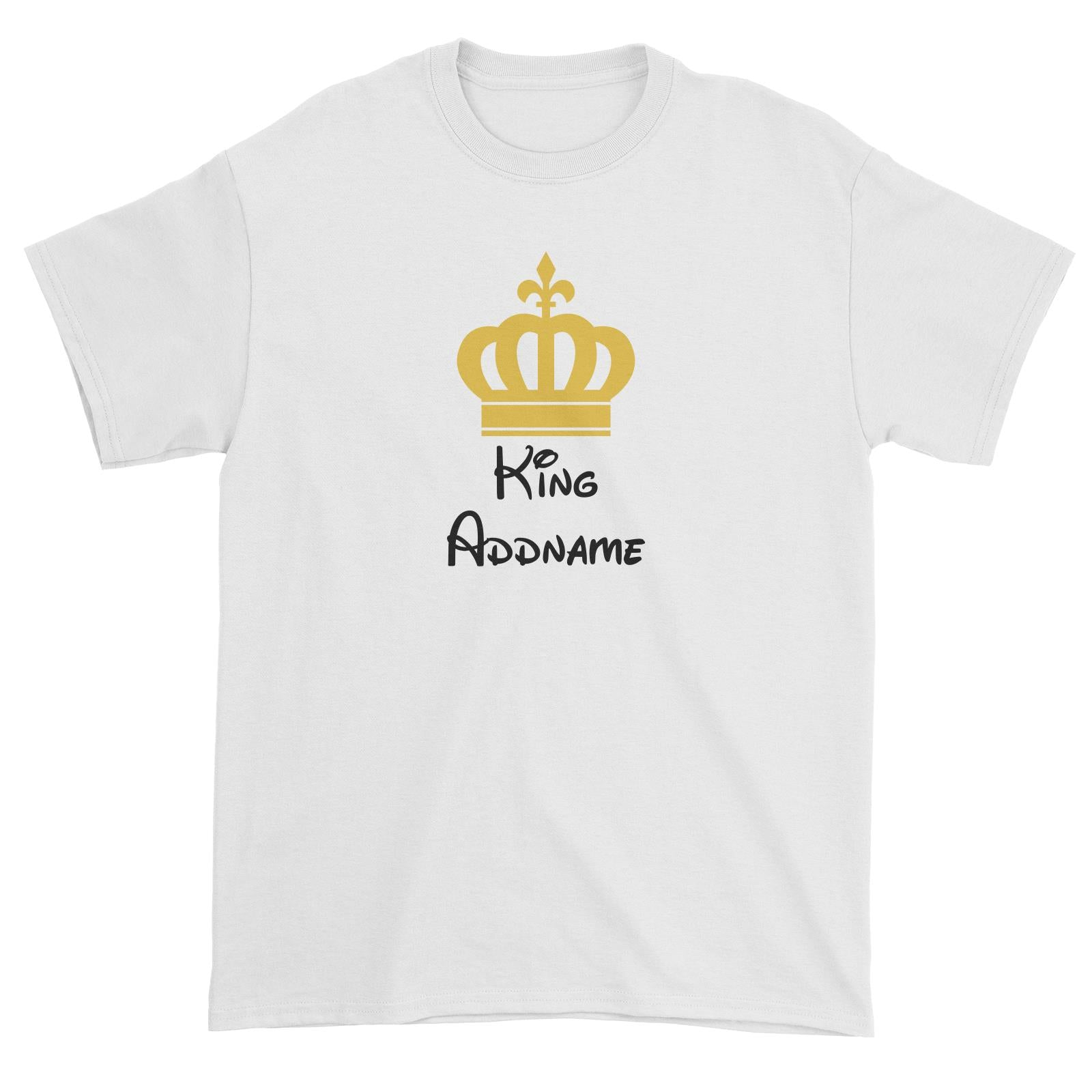 Royal King with Crown Addname Unisex T-Shirt
