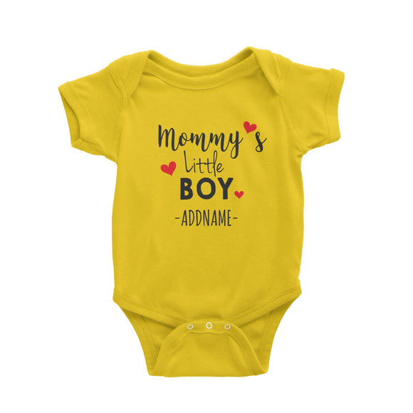 Mommy's Little Boy Addname Baby Romper Personalizable Designs Basic Newborn