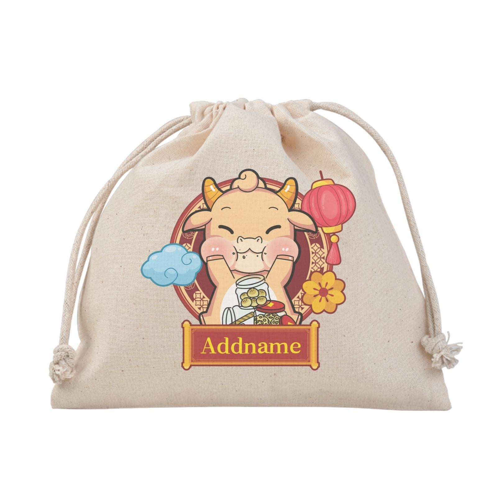 [CNY 2021] Golden Cow with New Year Treats Satchel
