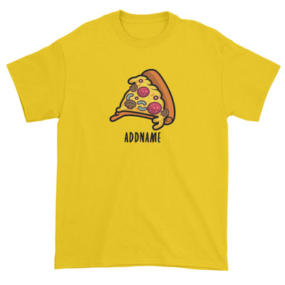 Fast Food Pizza Slice Addname Unisex T-Shirt  Matching Family Comic Cartoon Personalizable Designs
