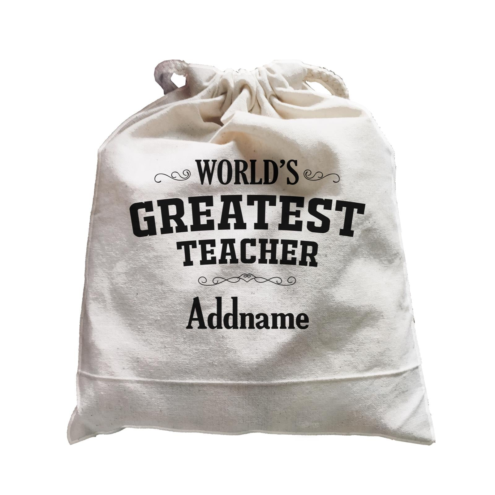 Great Teachers World's Greatest Teacher Addname Satchel