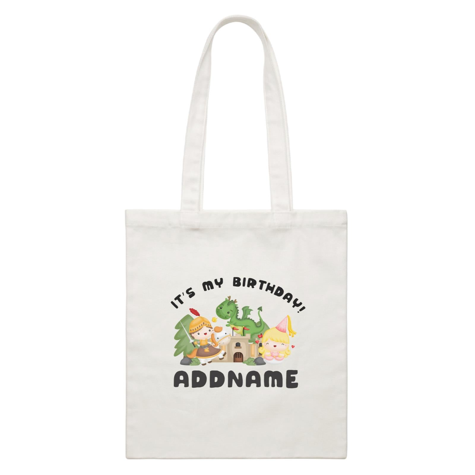 Birthday Royal Group It's My Birthday Addname White Canvas Bag