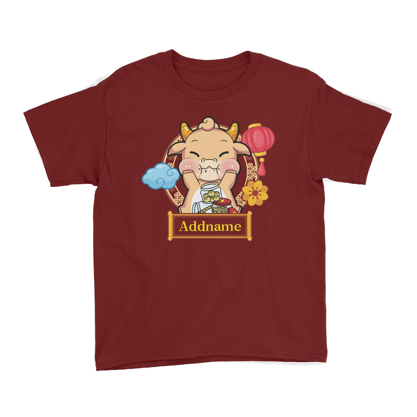 [CNY 2021] Golden Cow with New Year Treats Kid's T-Shirt