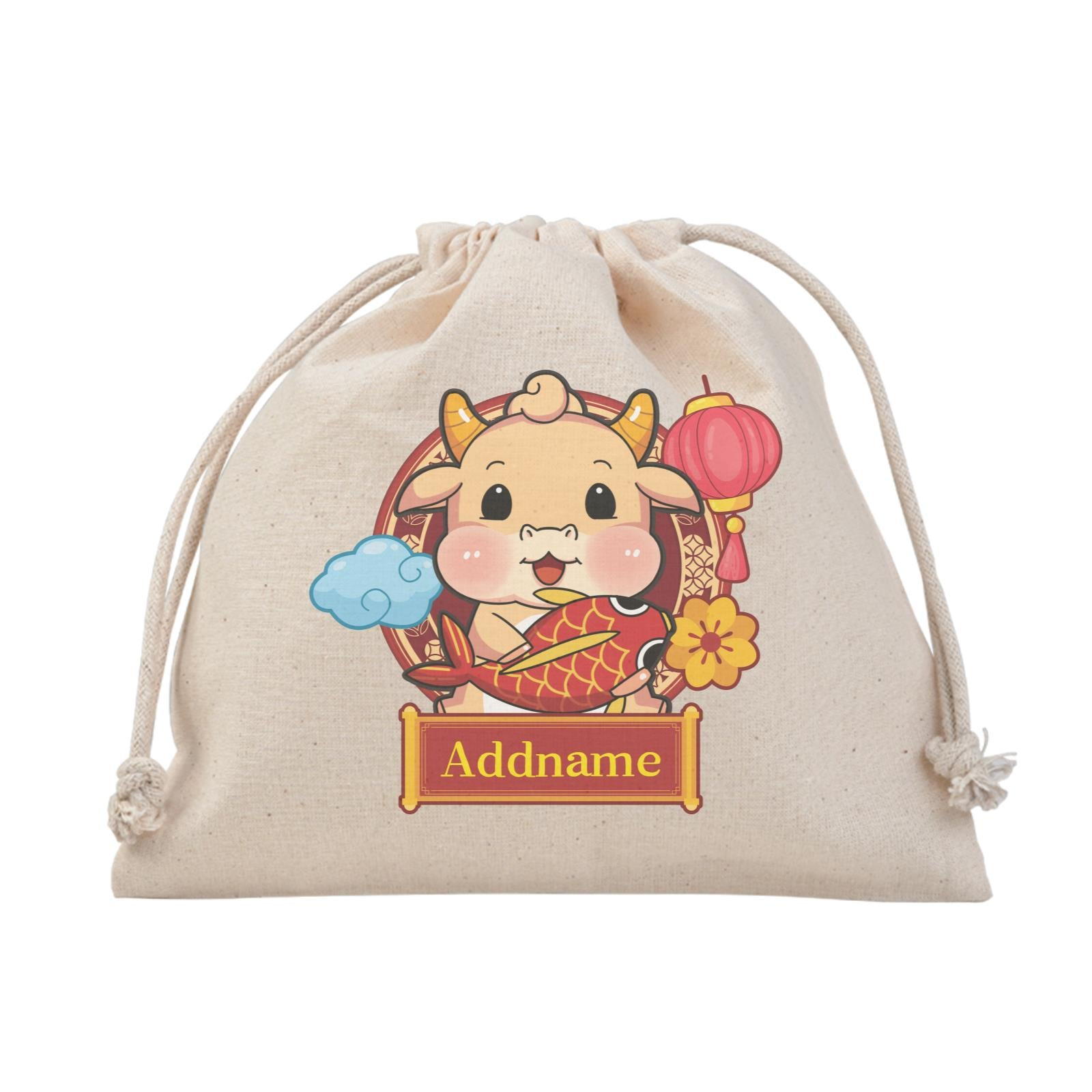 [CNY 2021] Golden Cow with Koi Fish Satchel