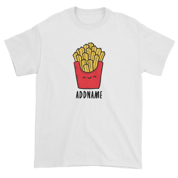 Fast Food Fries Addname Unisex T-Shirt  Matching Family Comic Cartoon Personalizable Designs
