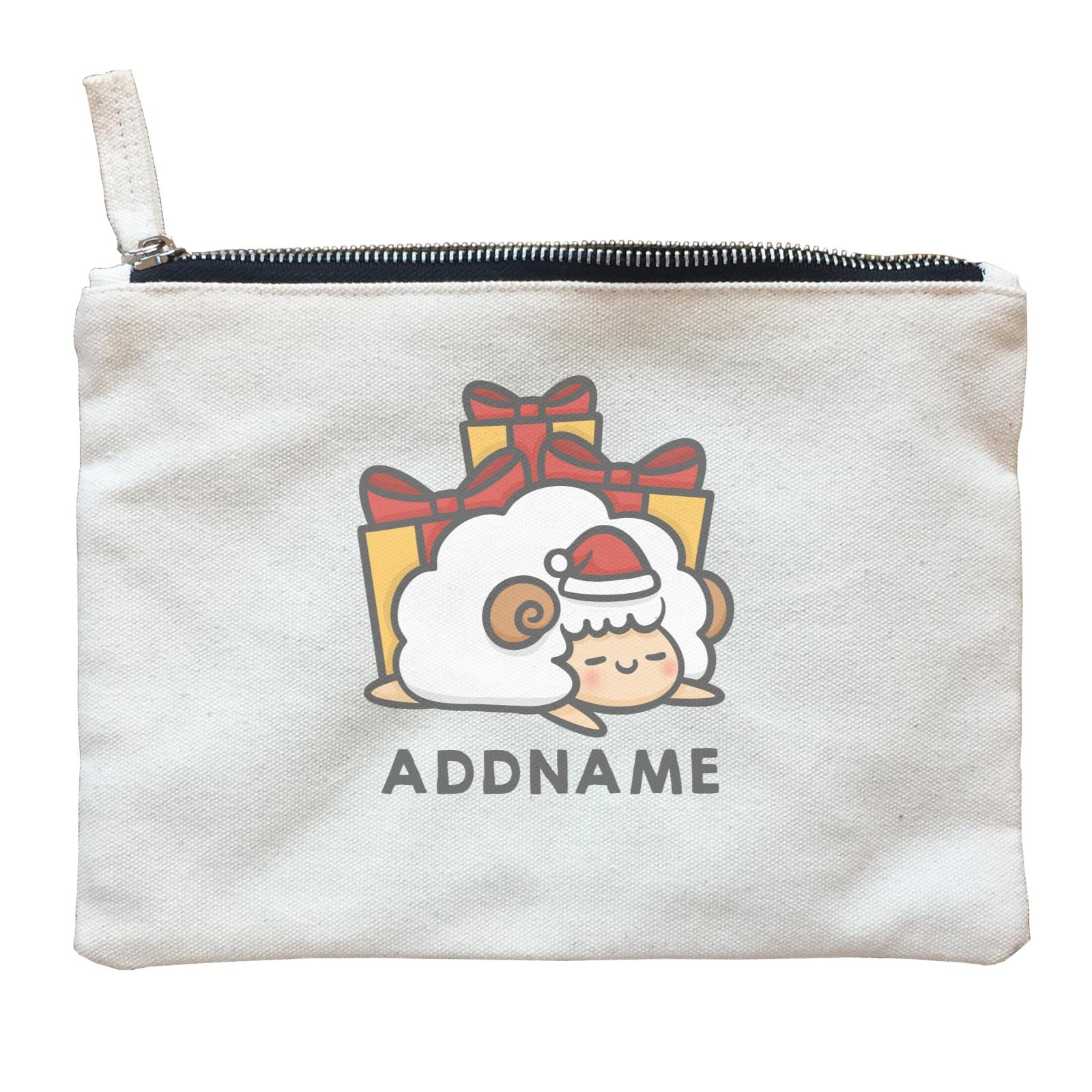 Xmas Cute Sleeping Sheep Addname Accessories Zipper Pouch