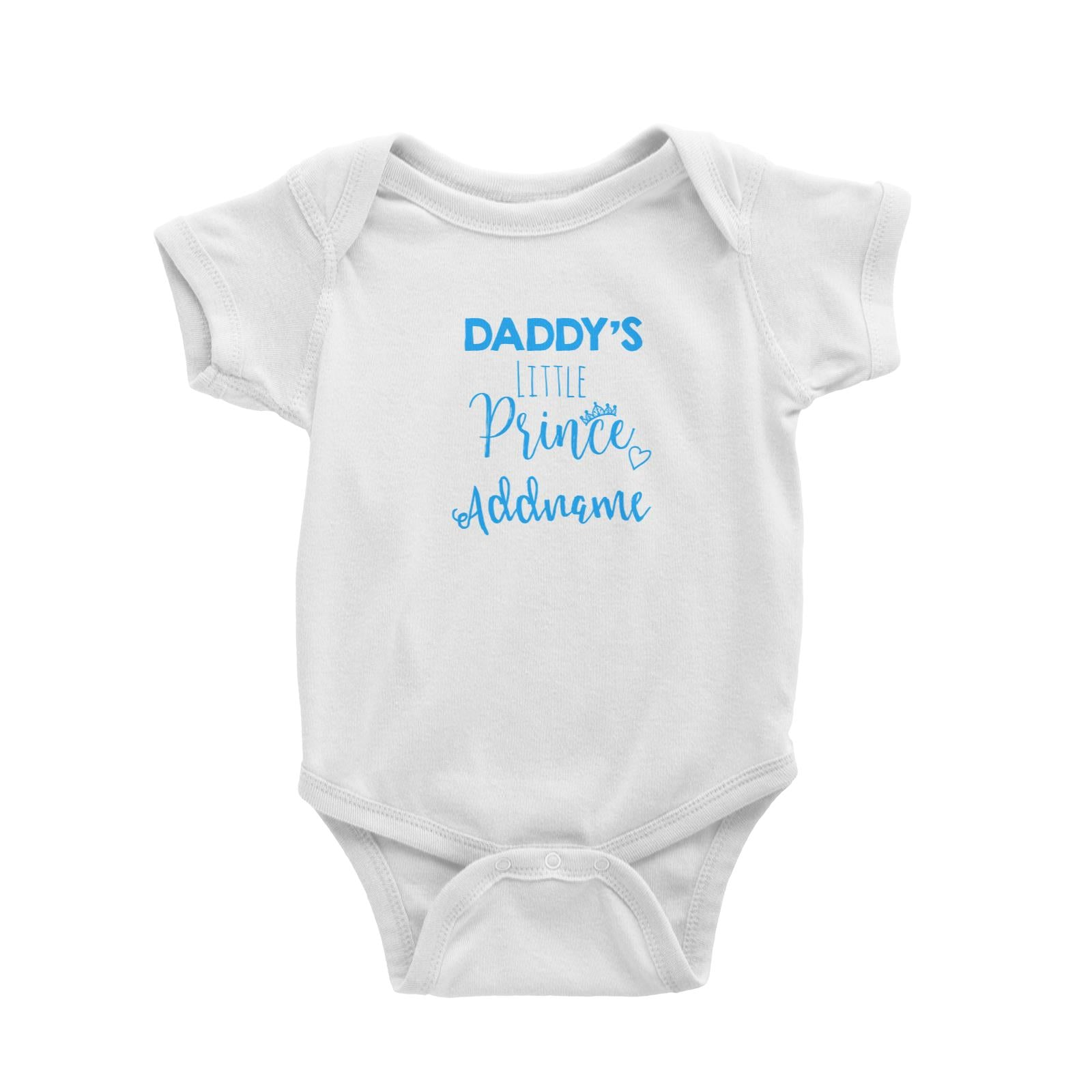 Babywears.my Daddy's Little Prince Addname T-Shirt Personalizable Designs For Boys