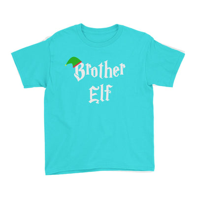 Brother Elf With Hat Kid's T-Shirt Christmas Matching Family