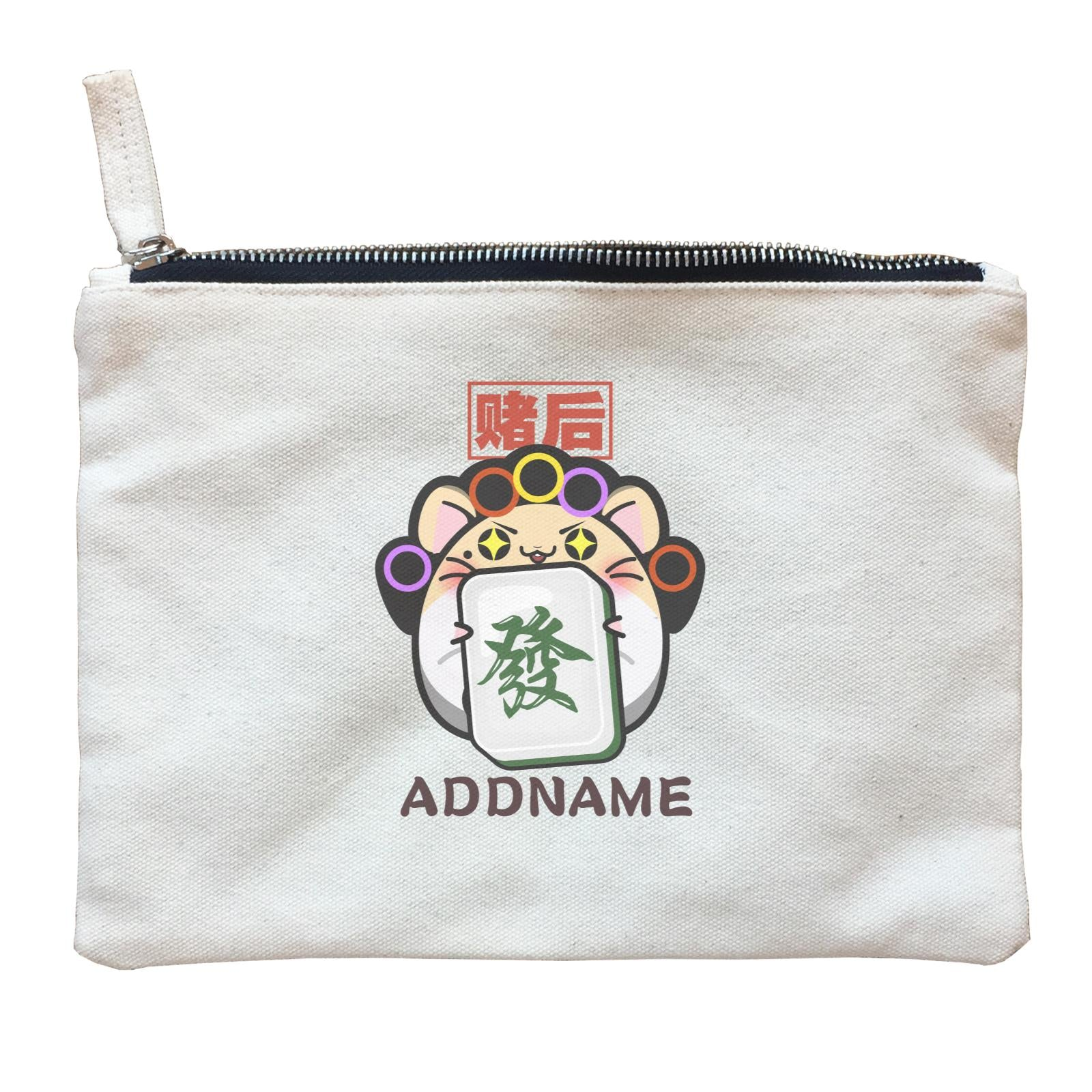 Prosperous Mouse Series Aunty Fa The Mahjong Accessories Queen Zipper Pouch