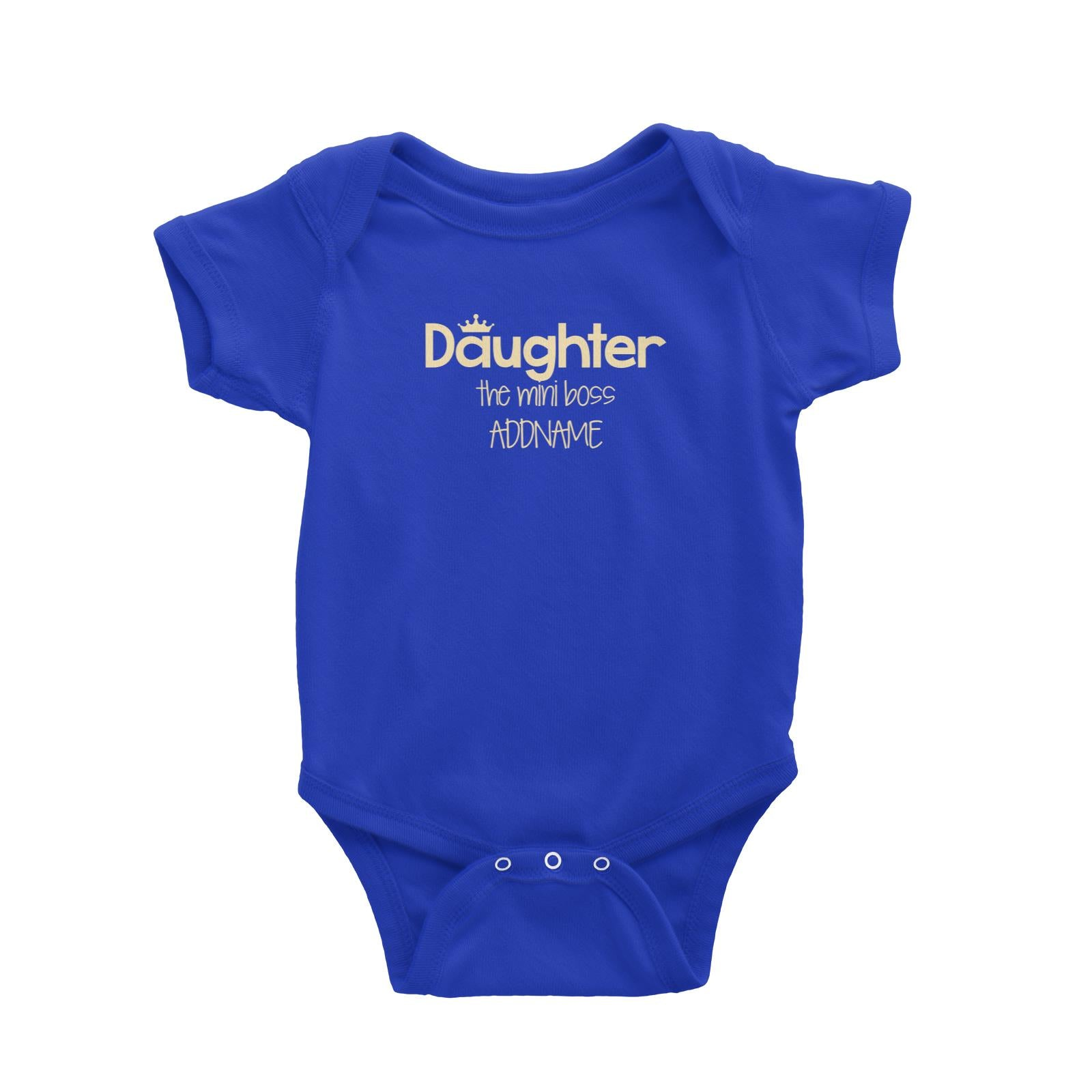 Daughter with Tiara The Mini Boss Baby Romper