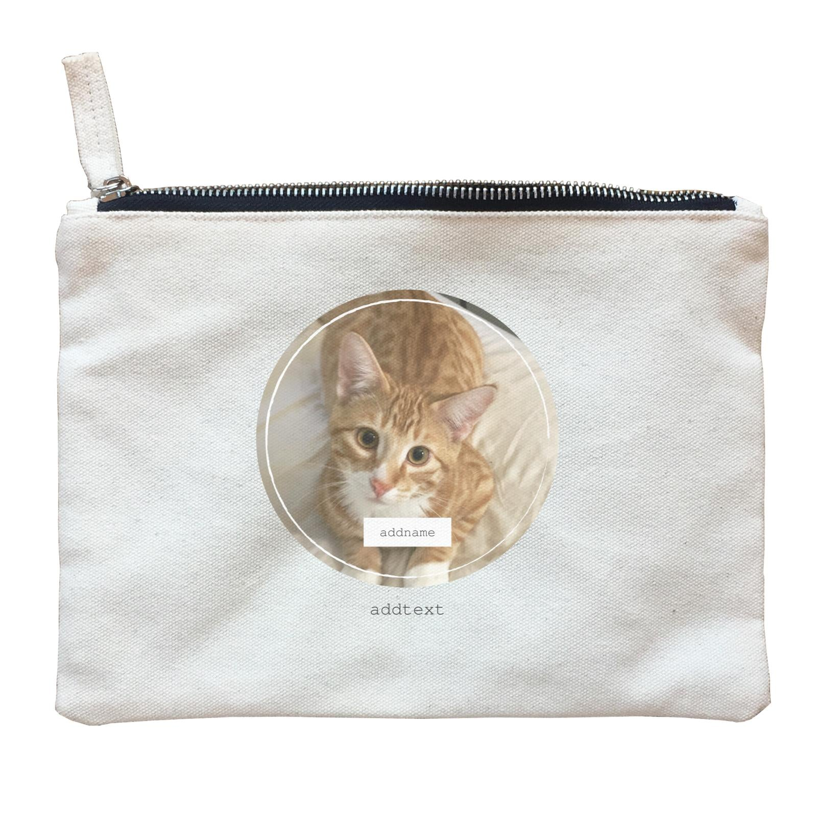Photo Gift Series Thin Ring Frame Zipper Pouch