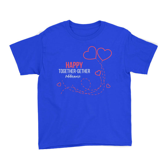 Happy Together Gether with Hearts Kid's T-Shirt