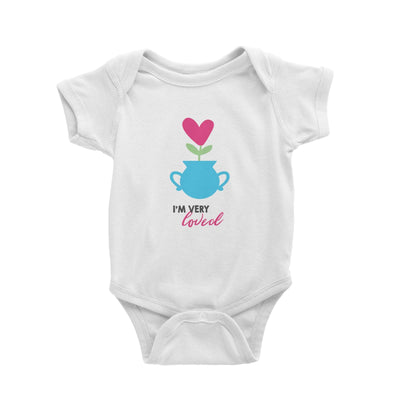 Nurturing I'm Very Loved Baby Romper Love Matching Family