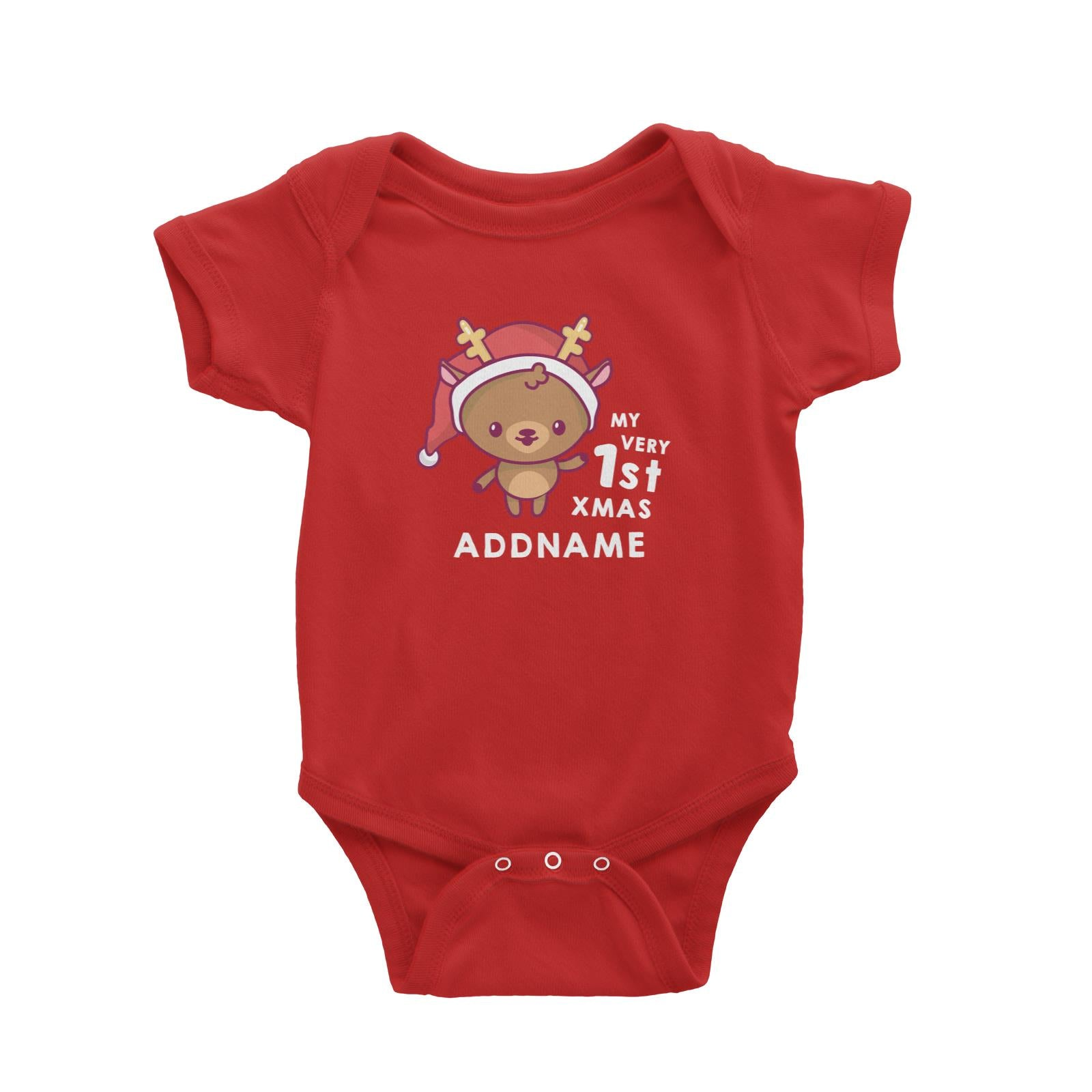 Christmas My Very 1st Deer Addname Baby Romper