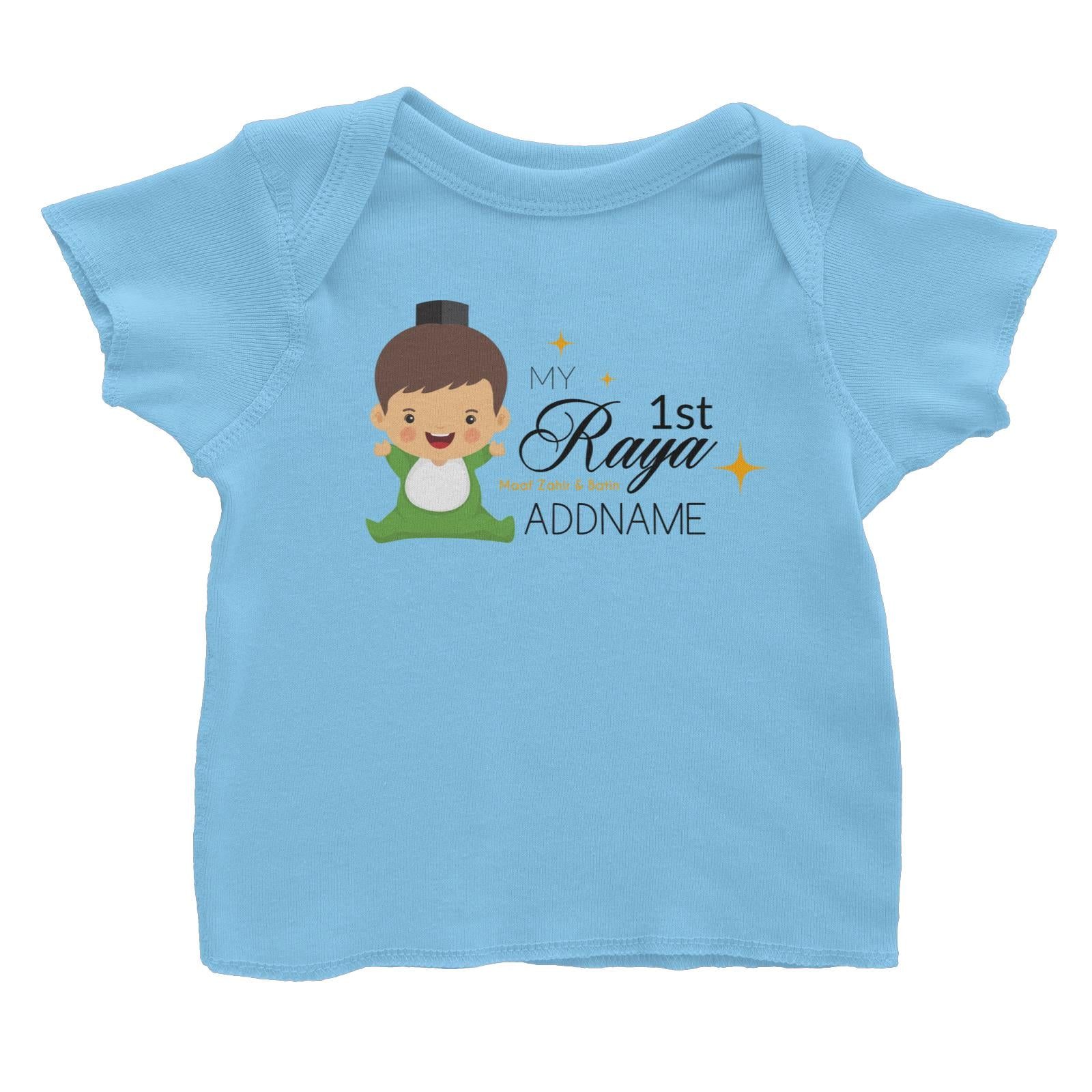 My 1st Raya Baby Boy Baby T-Shirt  Personalizable Designs Sweet Character