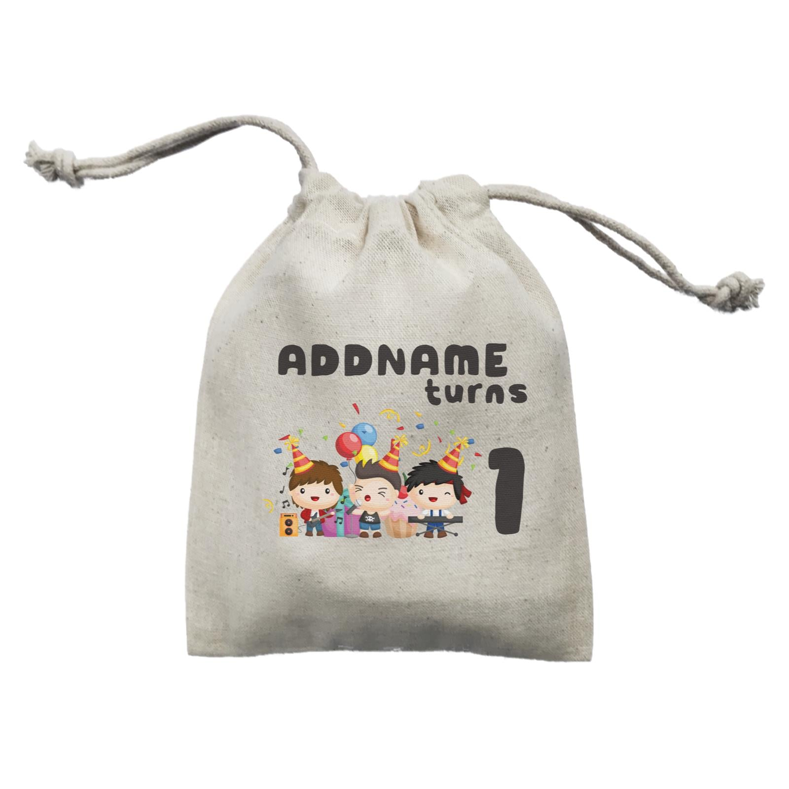 Birthday Music Band Boy Group Addname Turns 1 Mini Accessories Mini Pouch