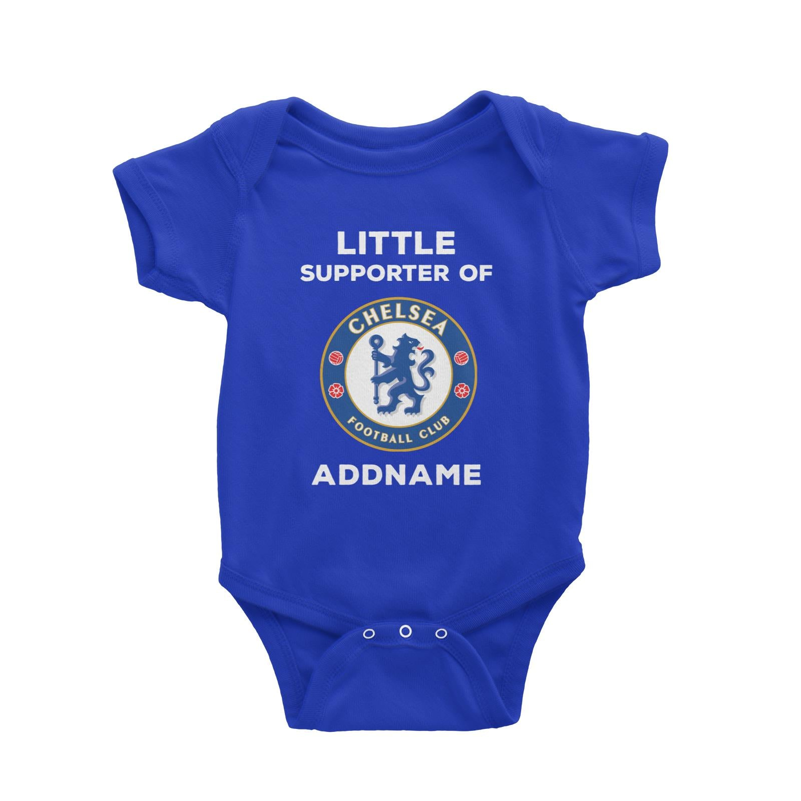 Chelsea FC Little Supporter Personalizable with Name Baby Romper