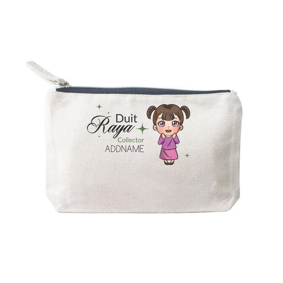 Raya Chibi Little Girl Duit Raya Collector Addname Mini Accessories Stationery Pouch 2