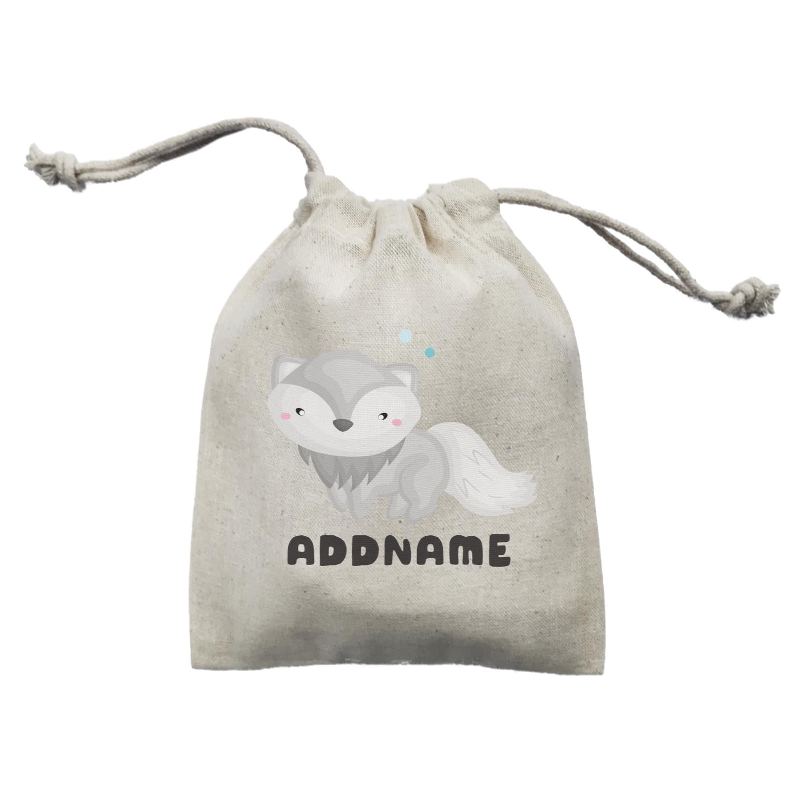 Birthday Winter Animals Snow Fox Addname Mini Accessories Mini Pouch