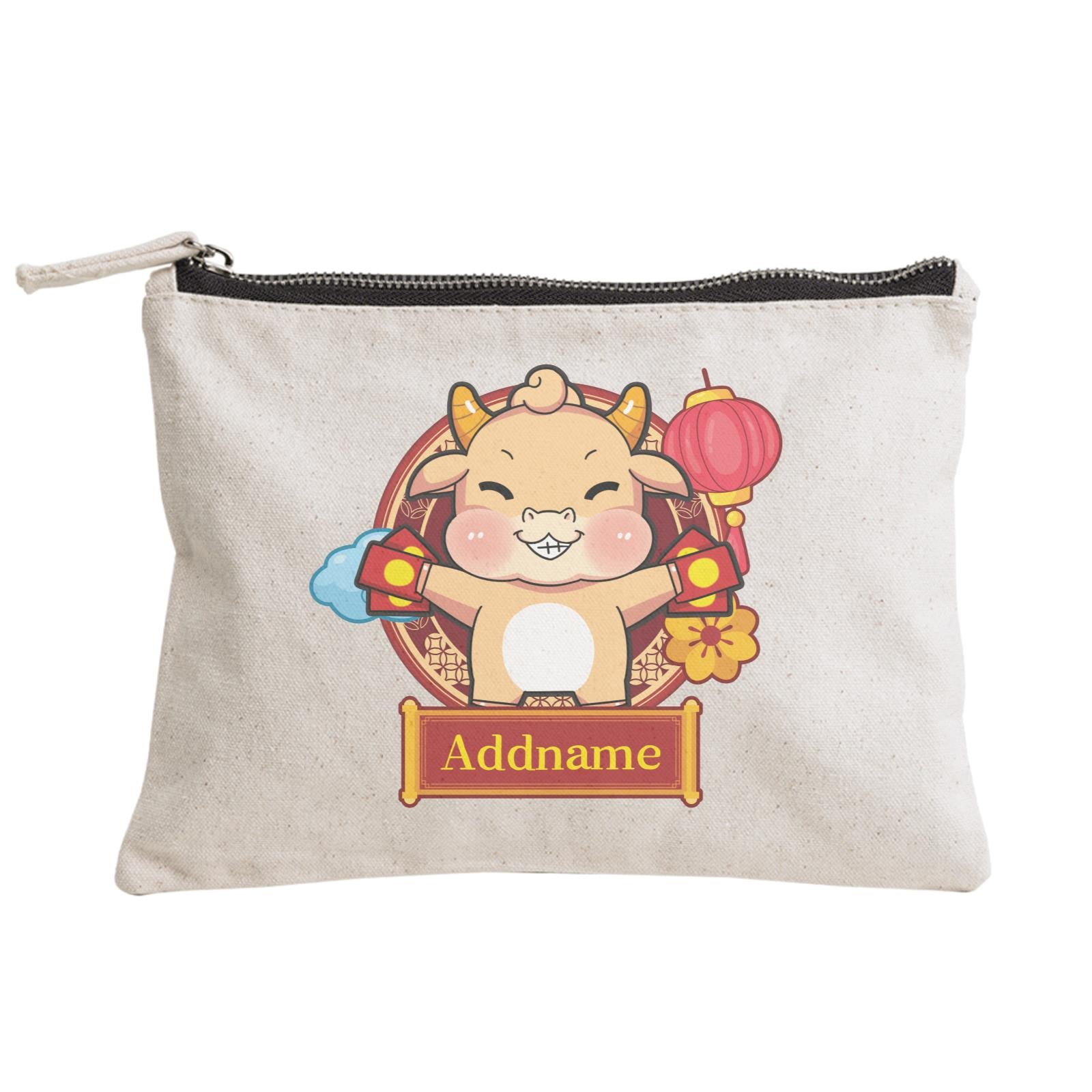 [CNY 2021] Golden Cow with Angpao Zipper Pouch