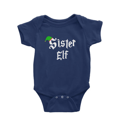 Sister Elf With Hat Baby Romper Christmas Matching Family