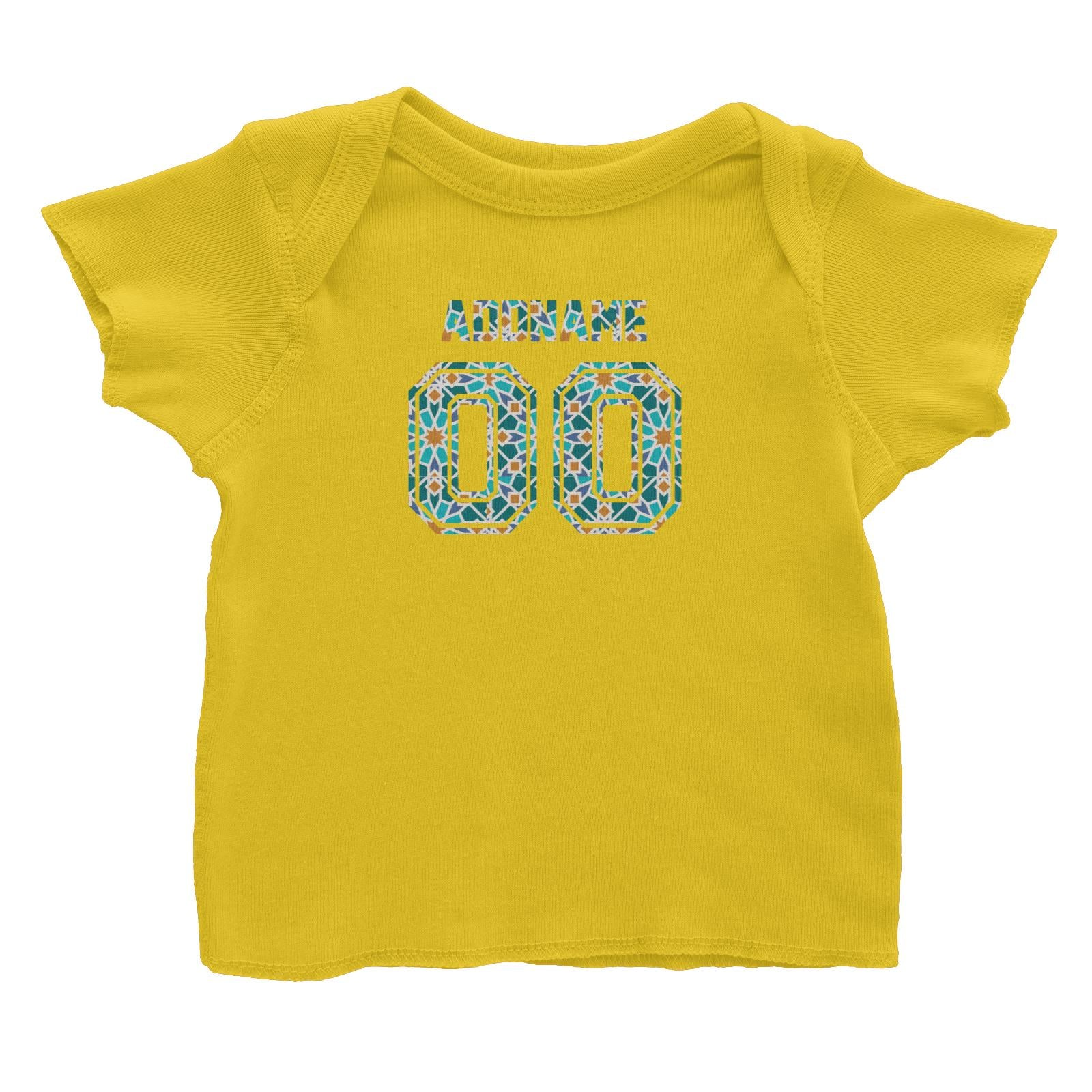 Jersey Islamic Pattern Baby T-Shirt Raya Personalizable Designs
