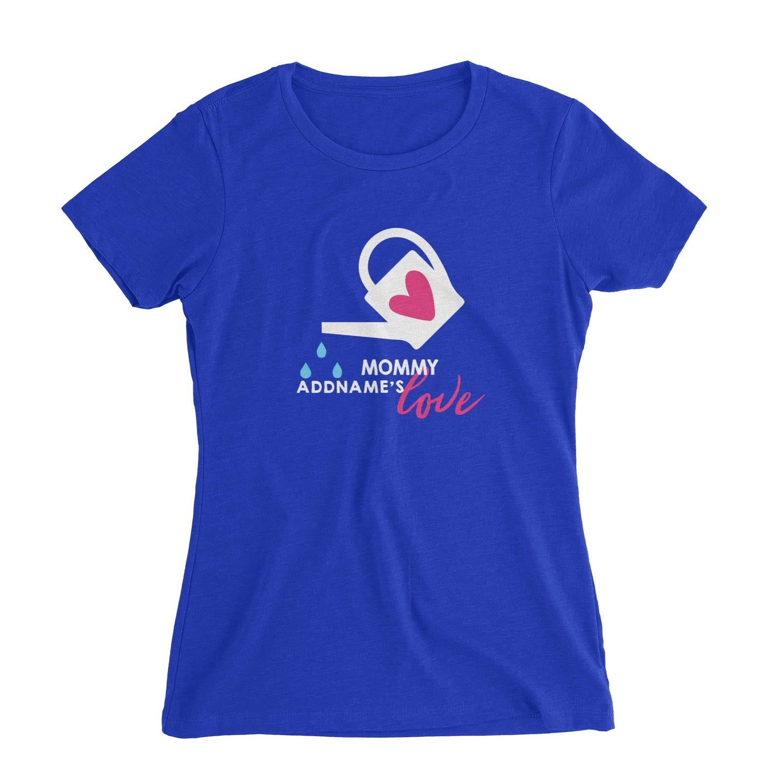 Nurturing Mommy's Love Addname Women's Slim Fit T-Shirt  Matching Family Personalizable Designs