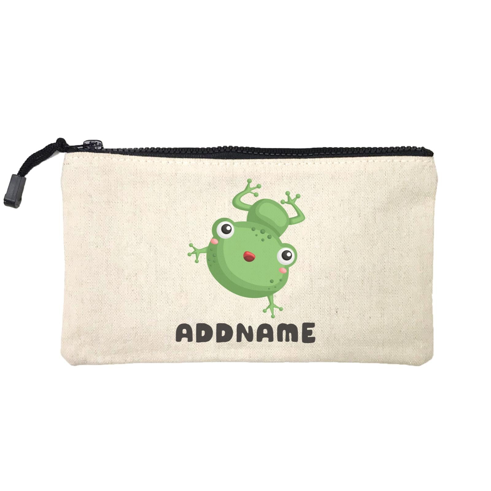 Birthday Frog Happy Frog Jumping Addname Mini Accessories Stationery Pouch