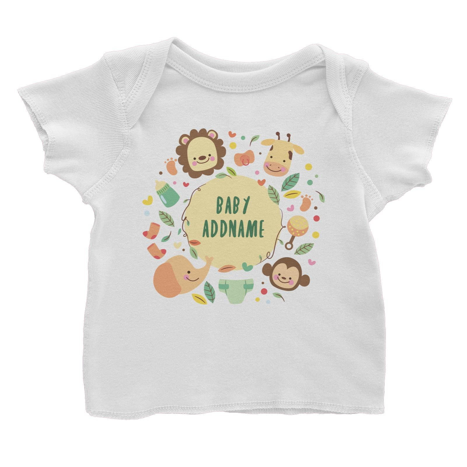 Baby Safari Animals with Addname Baby T-Shirt
