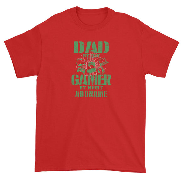 Dad By Day Gamer By Night Addname Unisex T-Shirt
