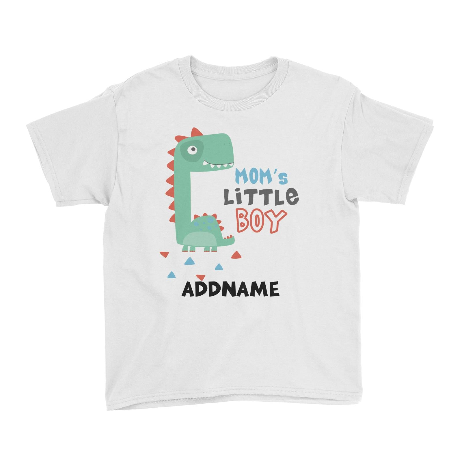 Mom's Little Boy Dinosaur Addname Kid's T-Shirt