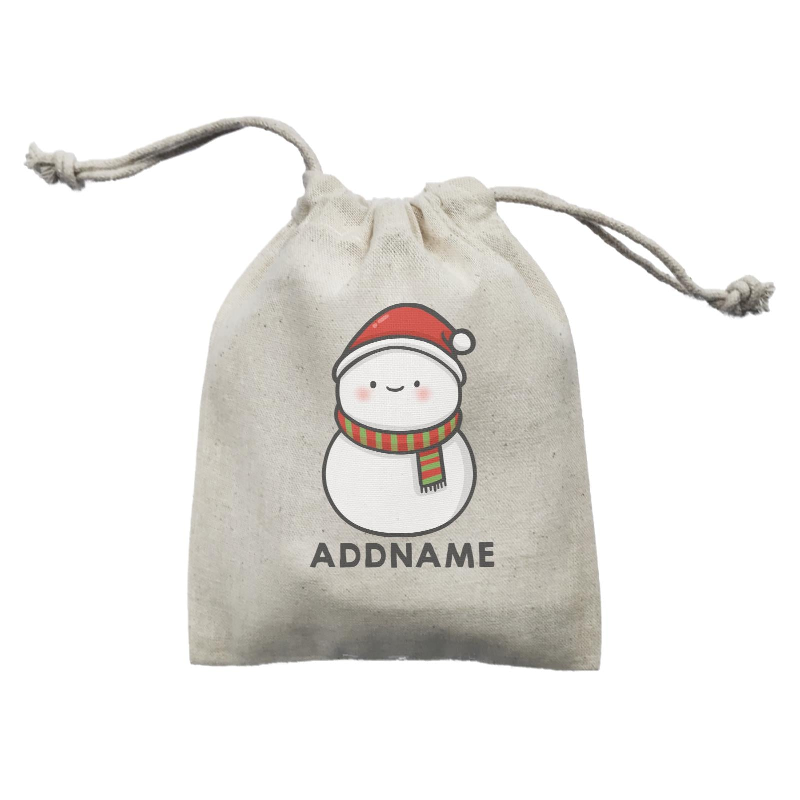Xmas Cute Snowman Facing Foward Addname Mini Accessories Mini Pouch
