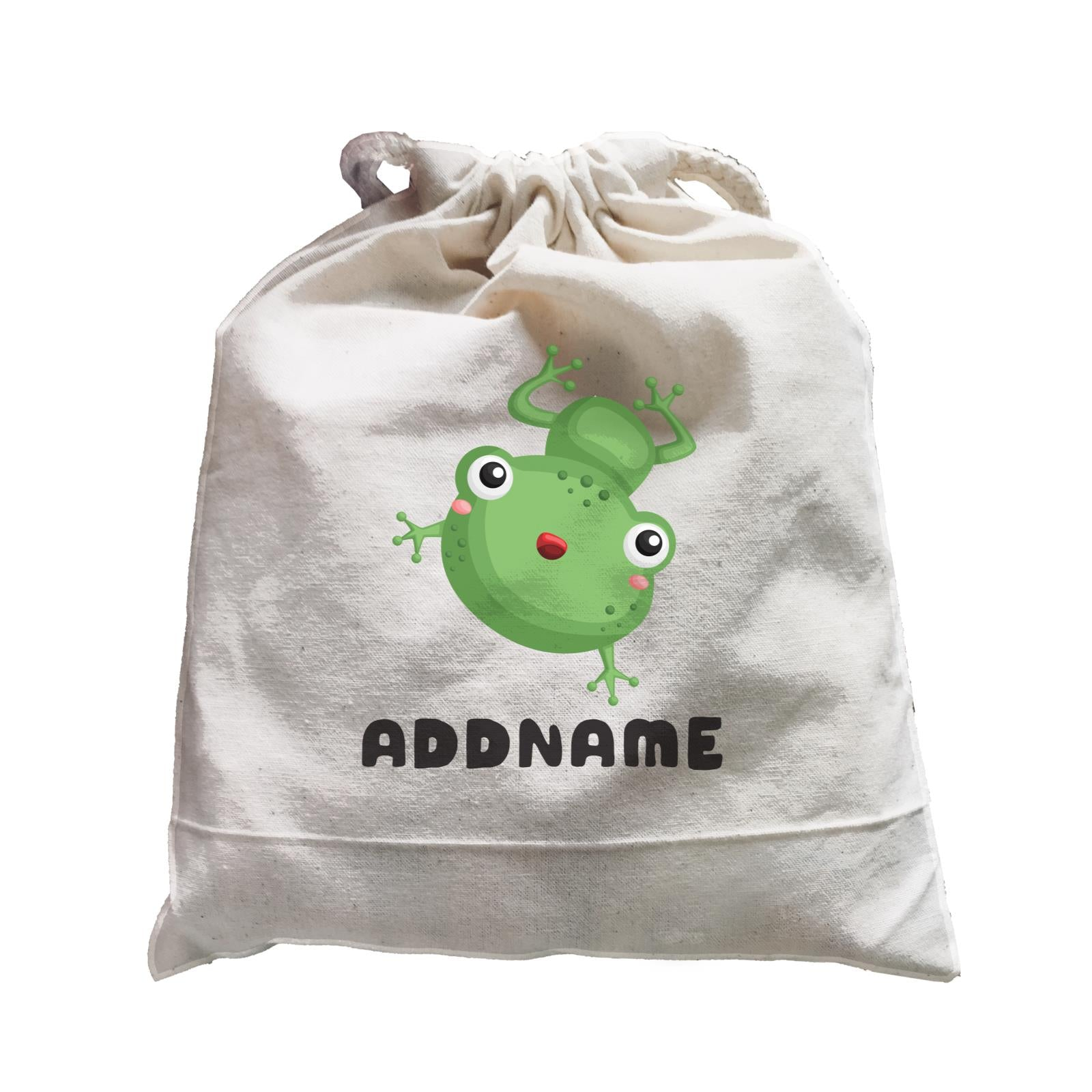 Birthday Frog Frog Happy Jumping Addname Satchel