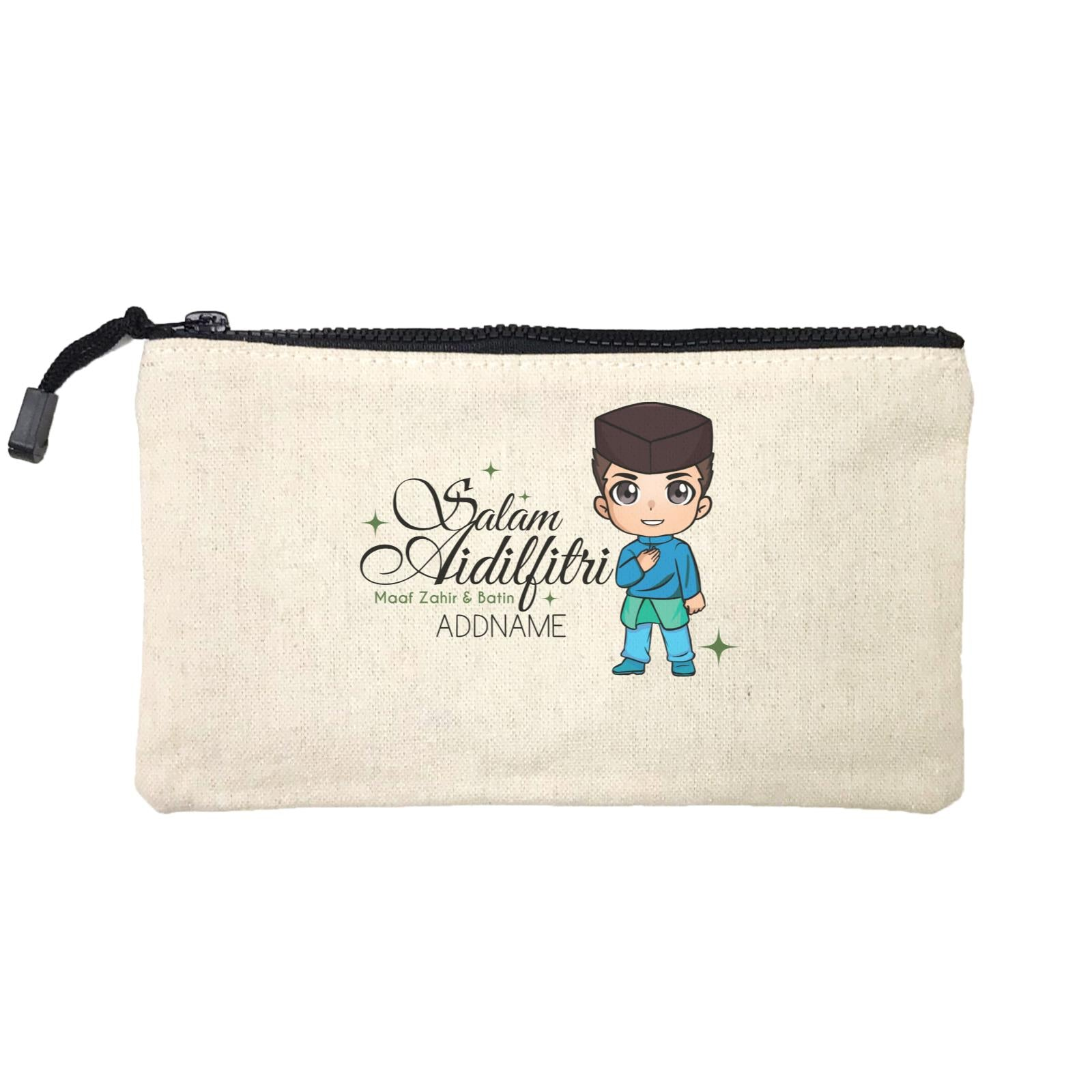 Raya Chibi Wishes Man Addname Wishes Everyone Salam Aidilfitri Maaf Zahir & Batin Mini Accessories Stationery Pouch