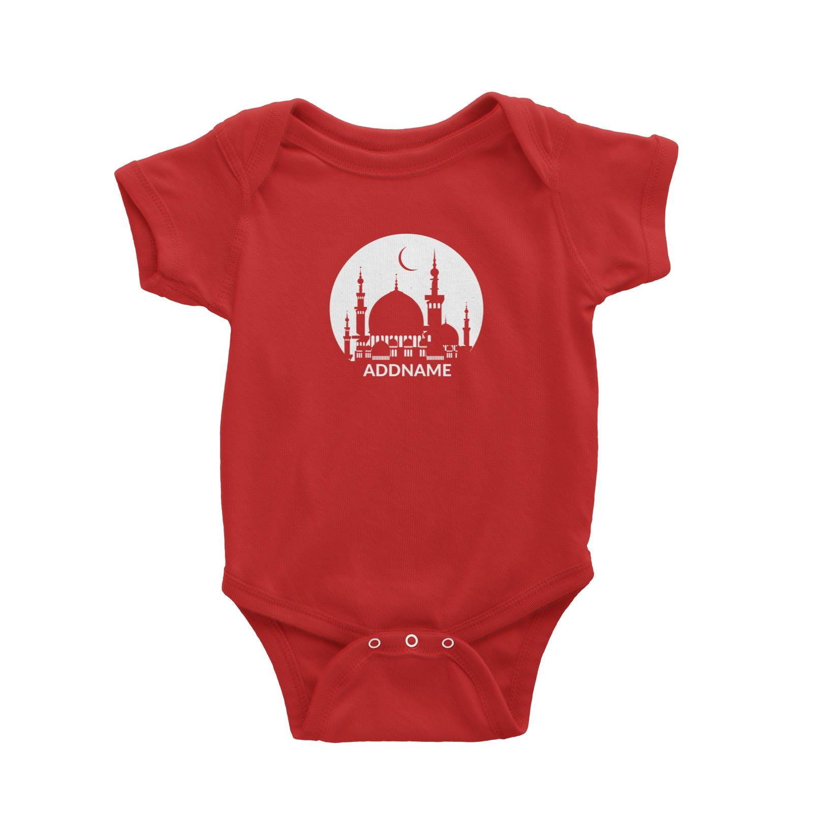 Mosque Moon Baby Romper Raya Personalizable Designs