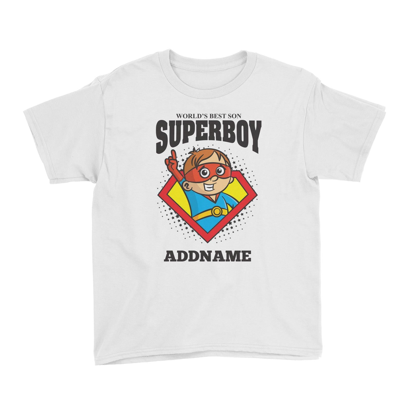 Best Son Superboy Boy (FLASH DEAL) Kid's T-Shirt Personalizable Designs Matching Family Superhero Family Edition Superhero