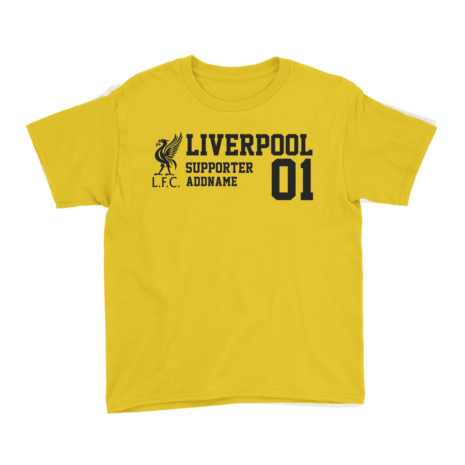 Liverpool Football Supporter Addname Kid's T-Shirt