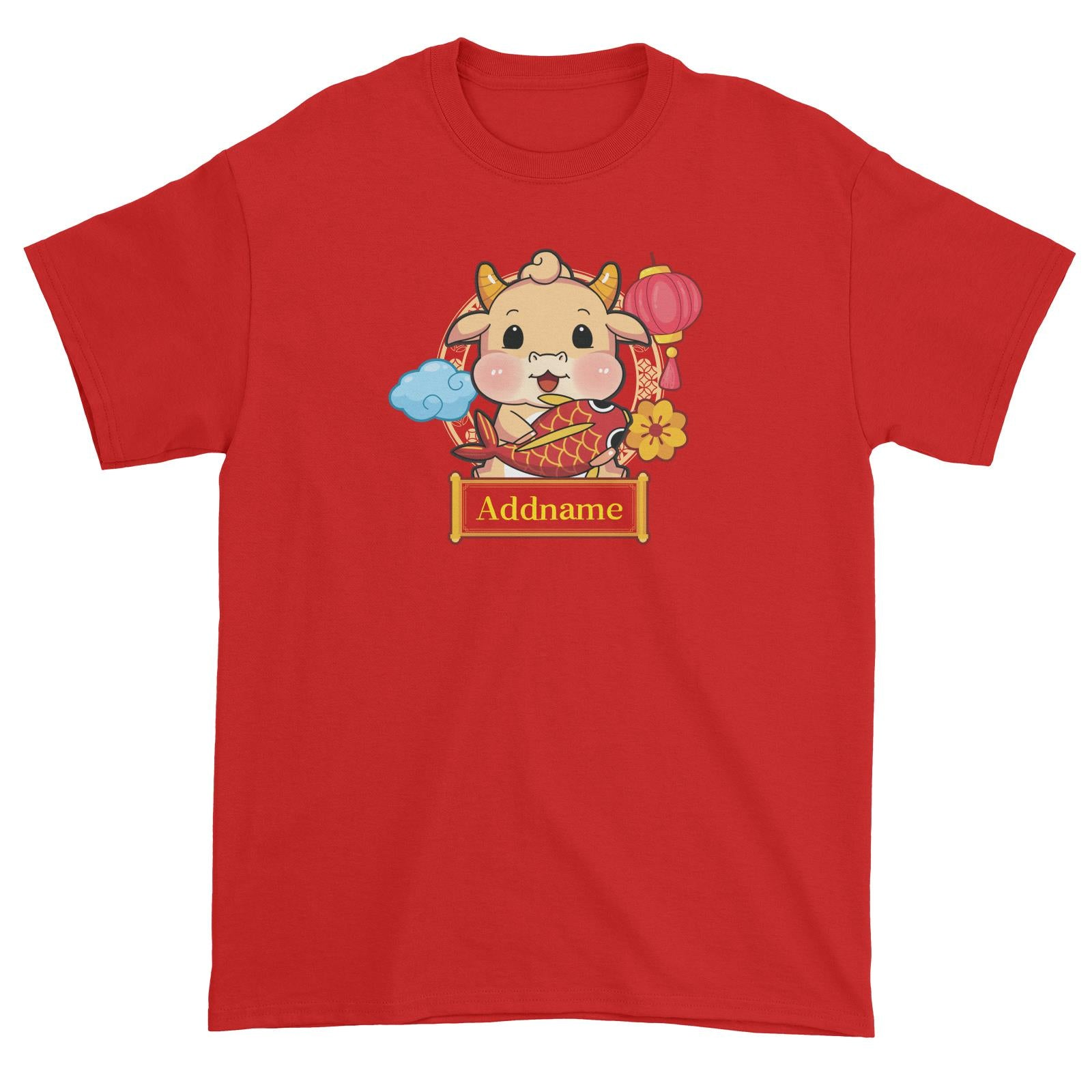 [CNY 2021] Golden Cow with Koi Fish Unisex T-Shirt