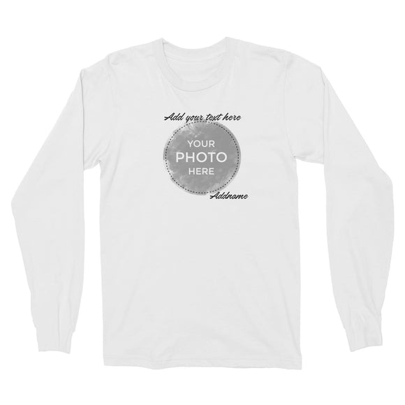 Custom Your Own Watercolor Design Addname Long Sleeve Unisex T-Shirt
